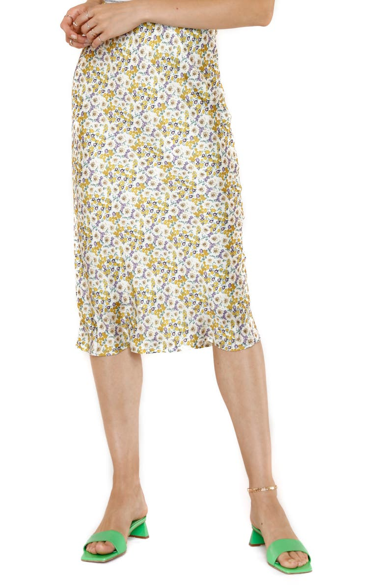 HEARTLOOM Rylen Floral Print Pencil Skirt, Main, color, MEADOW