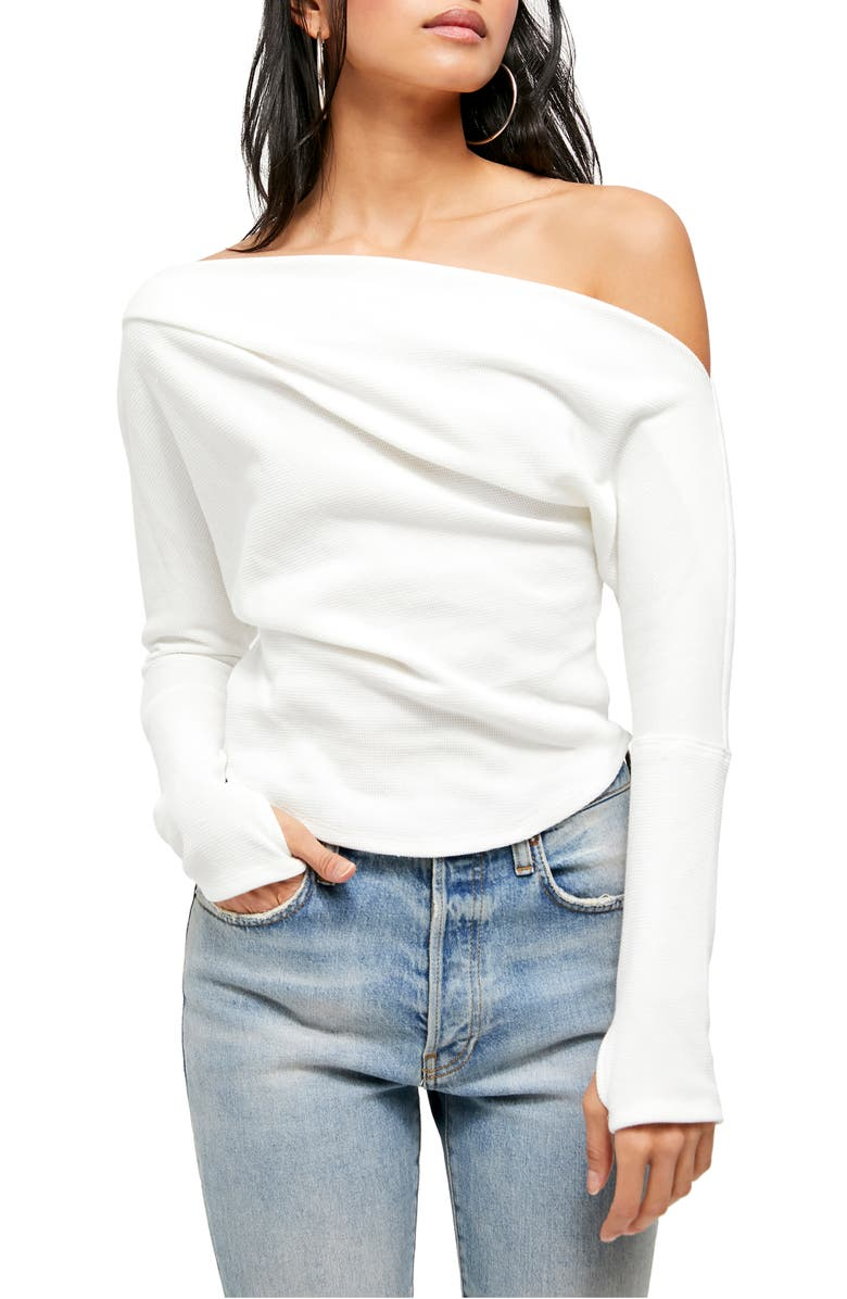 FREE PEOPLE Fuji Off the Shoulder Thermal Top, Main, color, IVORY