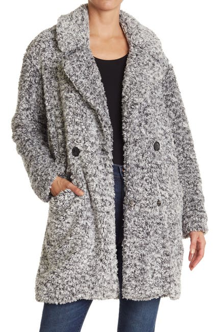 Image of Lucky Brand Frosted Faux Shearling Fleece Coat
