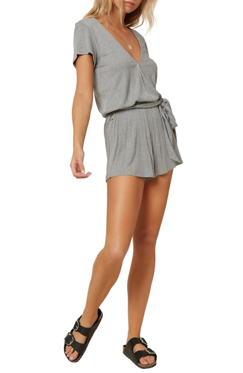 O'NEILL Robyn Knit Romper, Main, color, HEATHER GREY