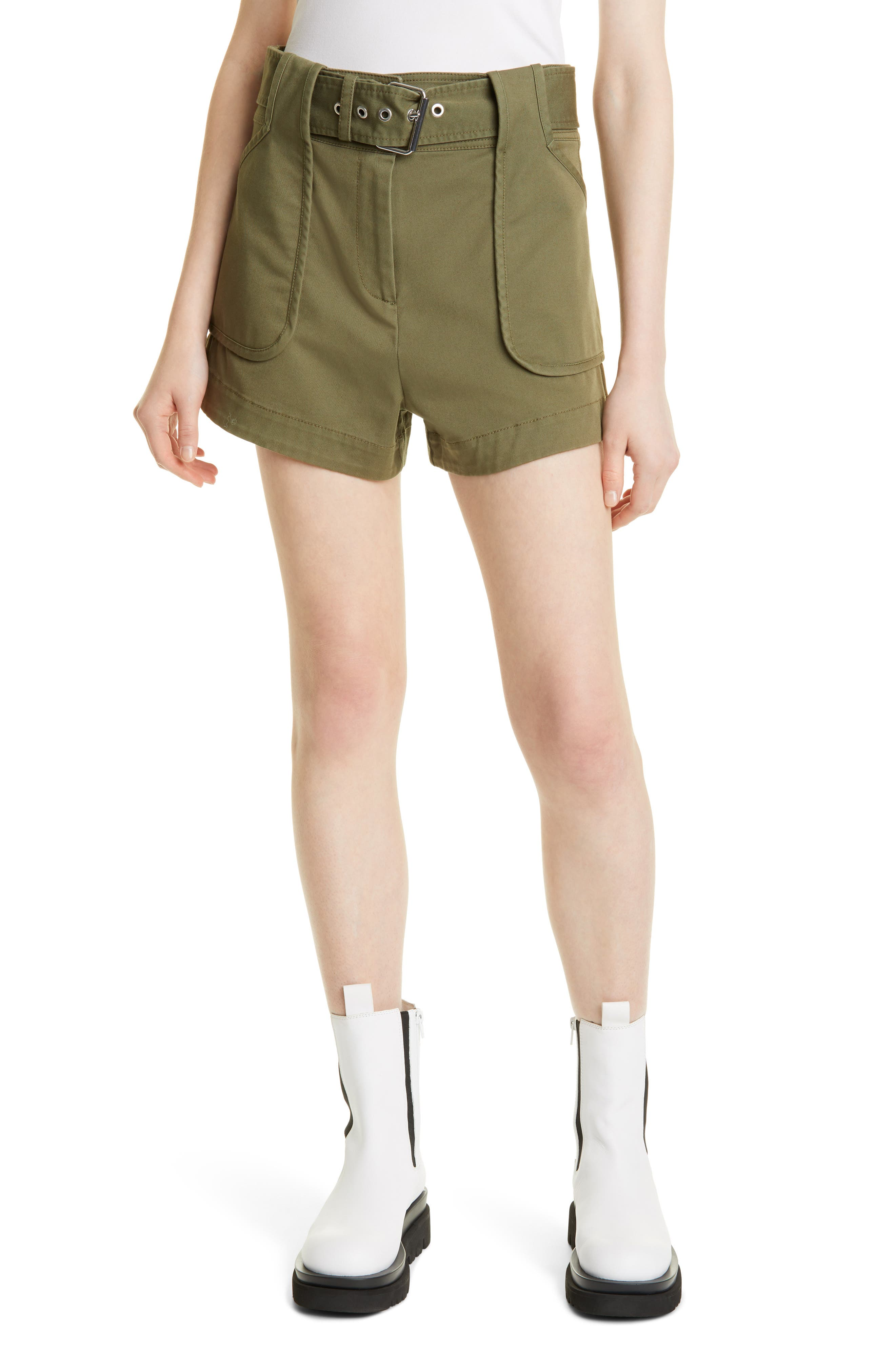 Montery Belted Cotton Blend Shorts