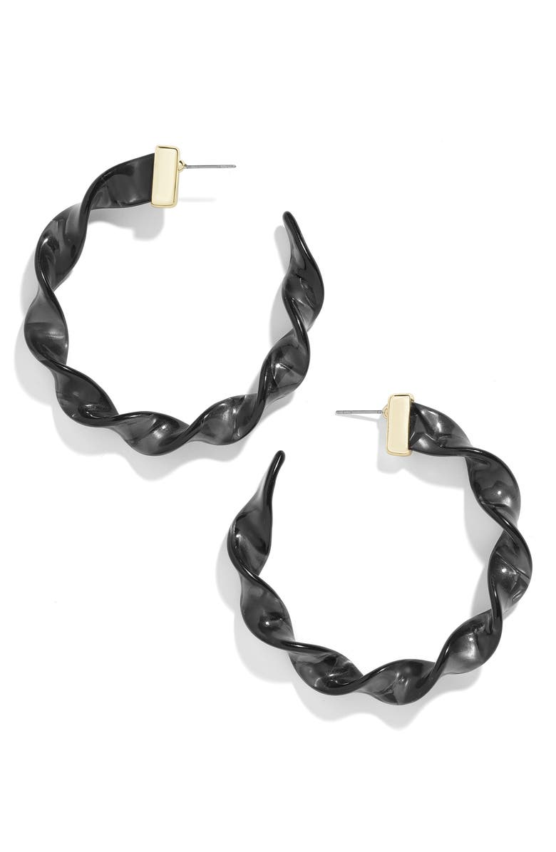 BAUBLEBAR x Micaela Erlanger Weekend Warrior Resin Hoop Earrings, Main, color, 001