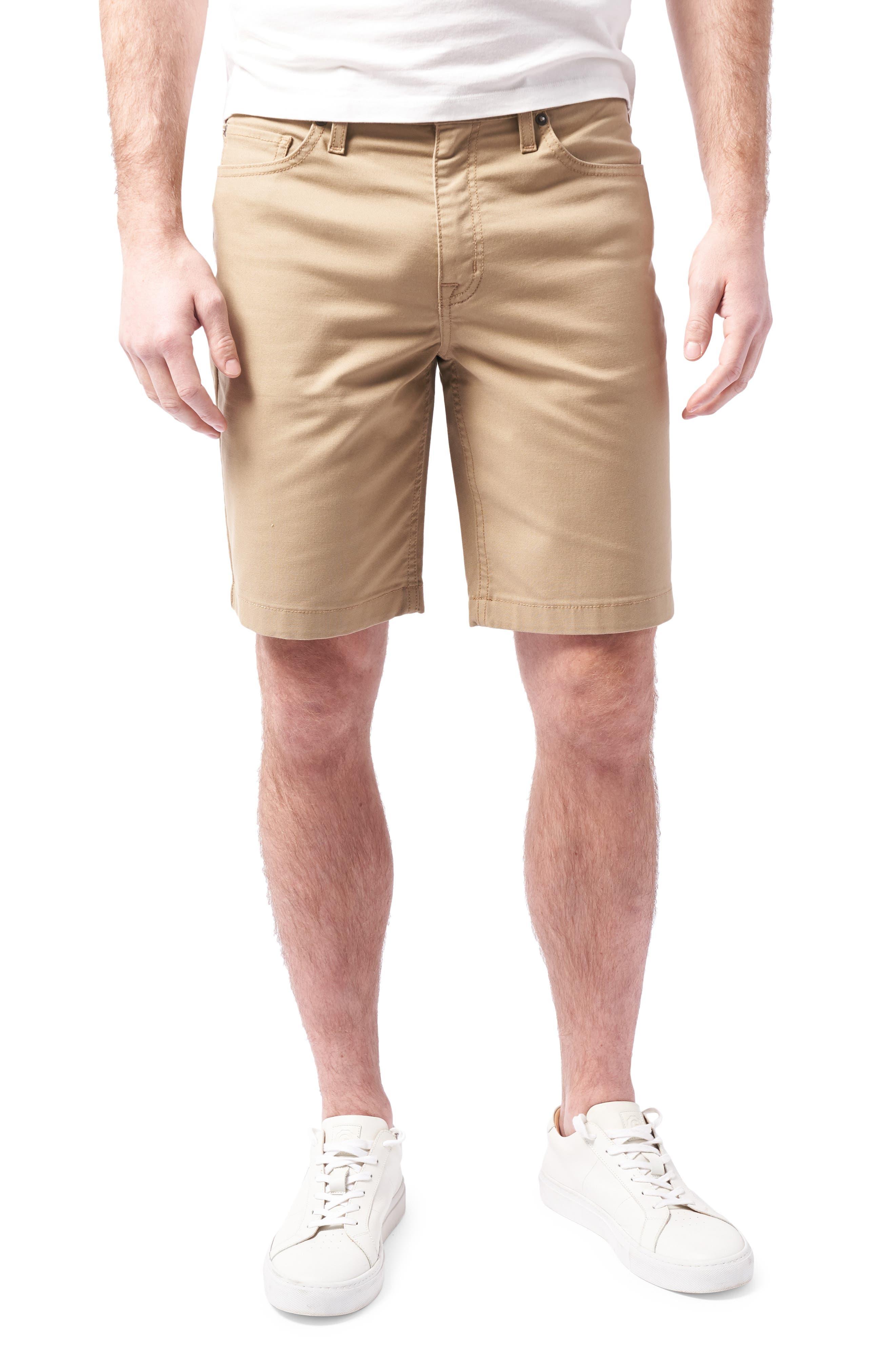 Slim Straight Leg Stretch Five Pocket Shorts