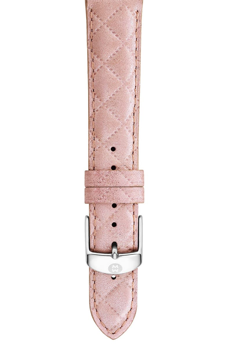 MICHELE 16mm Quilted Watch Strap, Main, color, 650