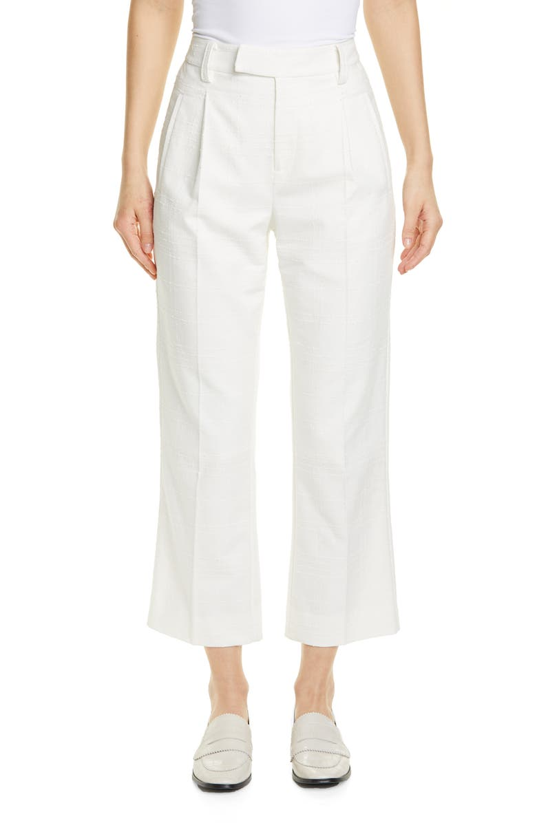 EQUIPMENT Bergen Crop Pants, Main, color, NATURE WHITE