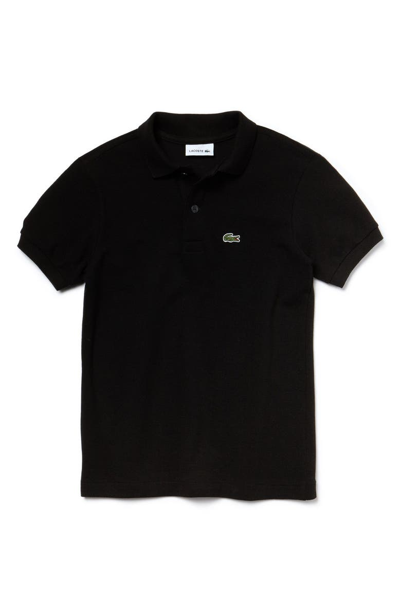 LACOSTE Piqué Cotton Polo, Main, color, BLACK