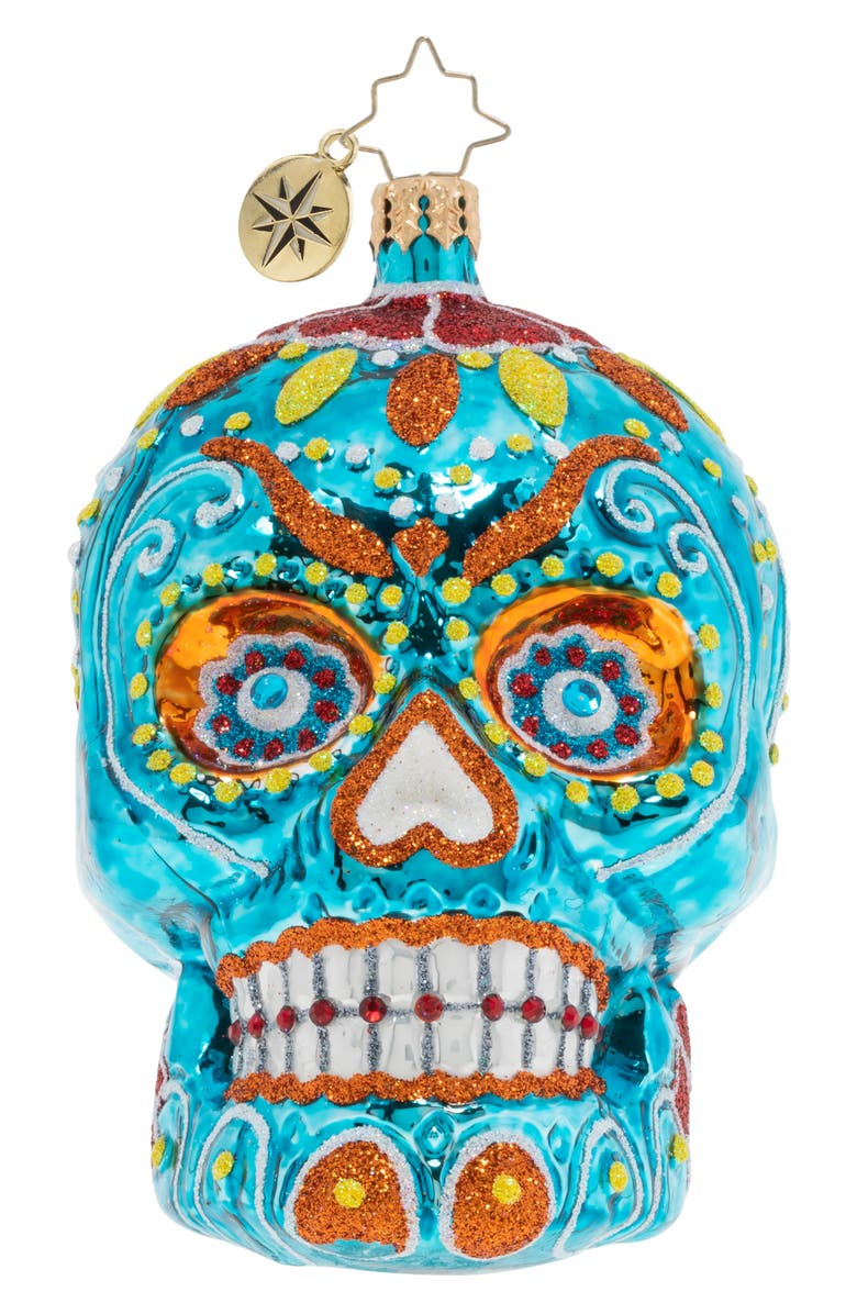 CHRISTOPHER RADKO Spooky La Calavera Ornament, Main, color, 400
