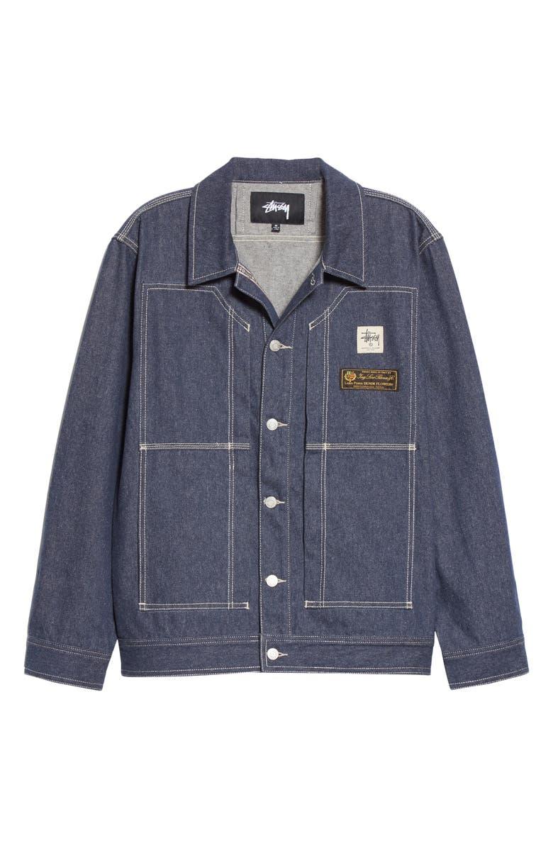 1017 ALYX 9SM x Stüssy Denim Jacket, Main, color, BLUE DENIM