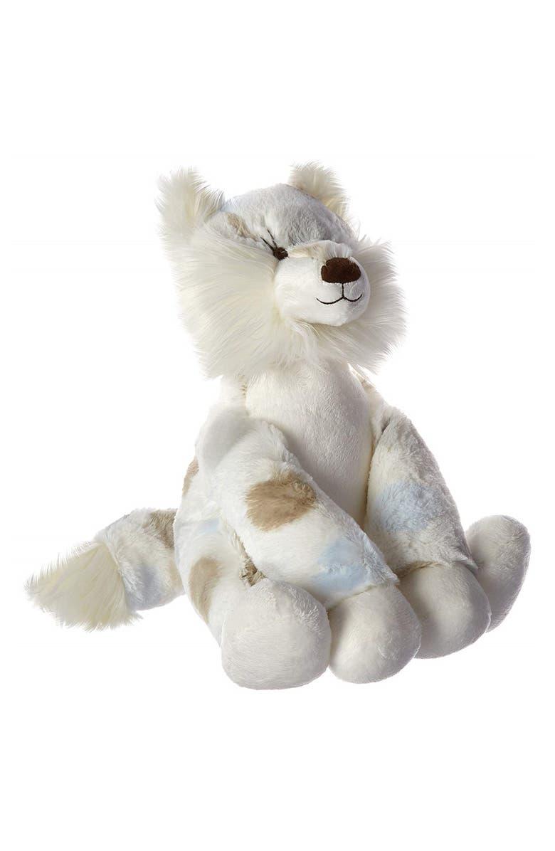 LITTLE GIRAFFE Luxe Plush Little Fox Stuffed Animal, Main, color, BLUE