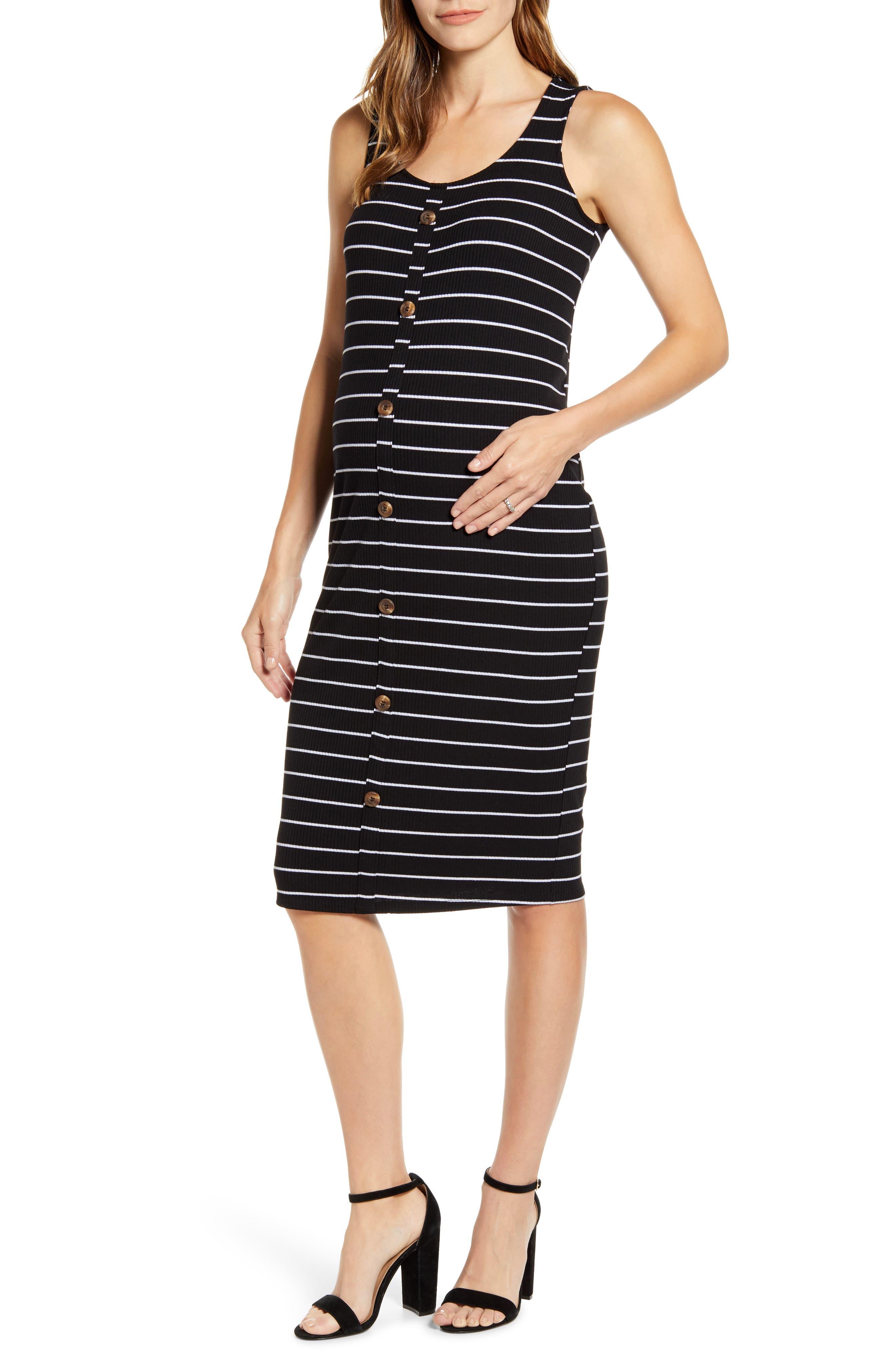 Fourteenth Place Maternity Tank Dress, Black