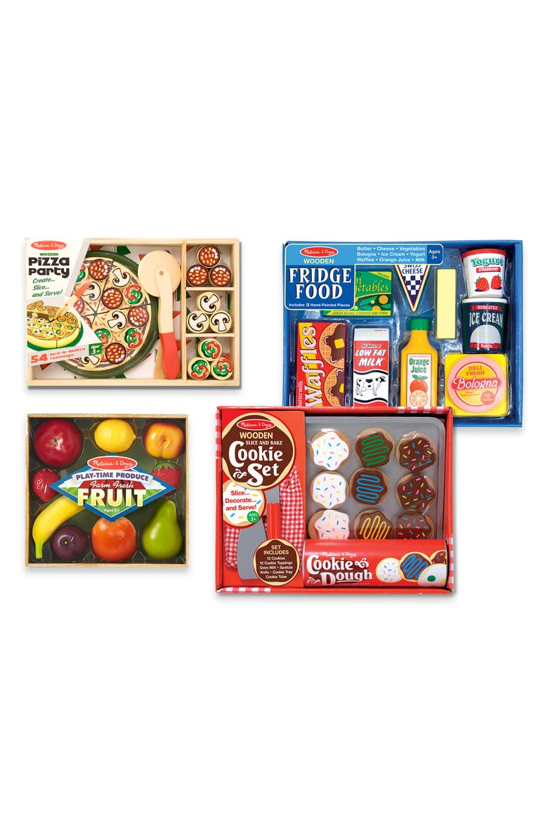 MELISSA & DOUG Set of 4 Play Foods, Main, color, 960