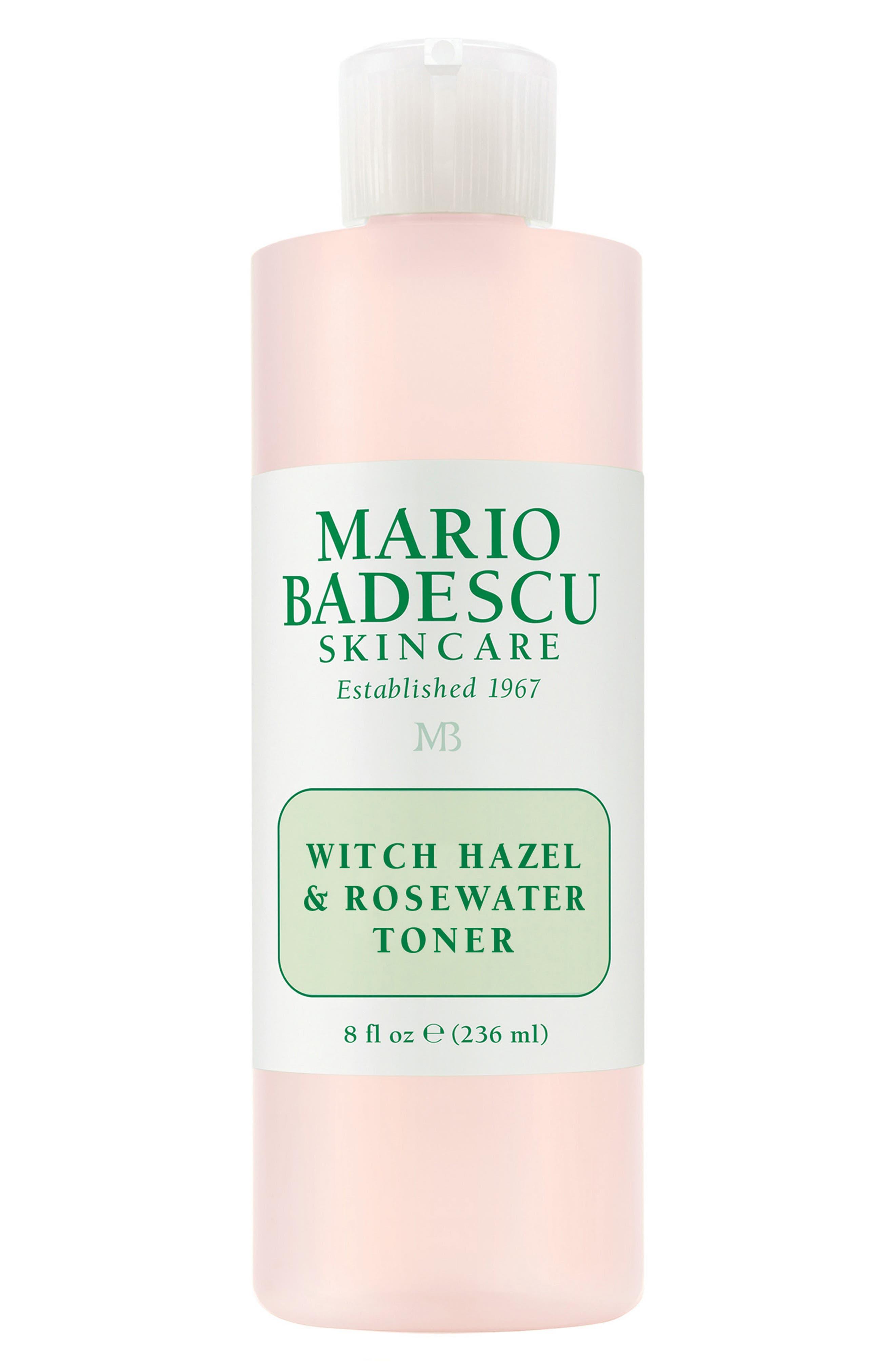 Witch Hazel & Rosewater Toner, Main, color, NO COLOR