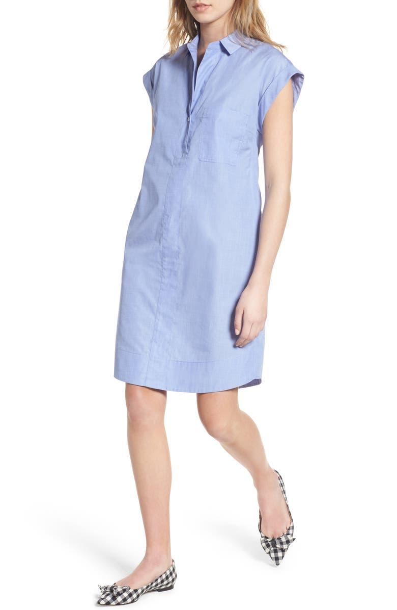 J.CREW Cotton Shirtdress, Main, color, 400