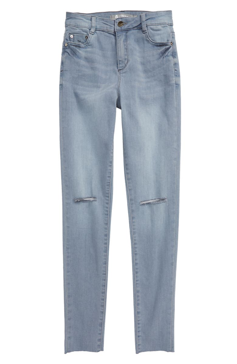 TRACTR High Waist Skinny Jeans, Main, color, BLUE