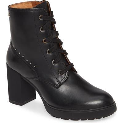 Pikolinos Sagunto Block Heel Combat Boot, Black