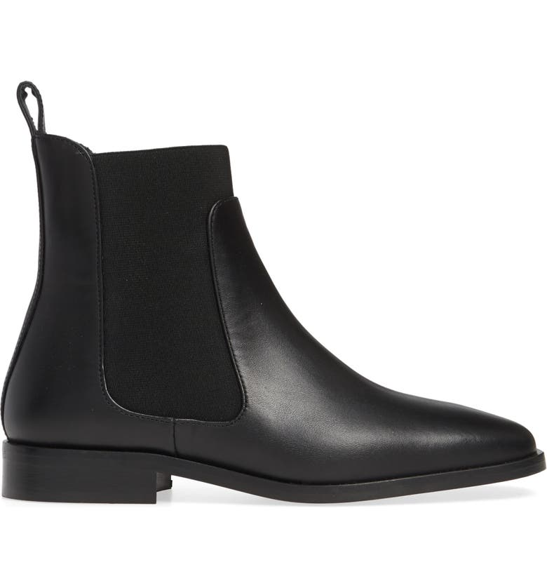 EVERLANE The Square Toe Chelsea Boot, Main, color, BLACK