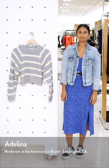 Stripe Crop Sweater, sales video thumbnail