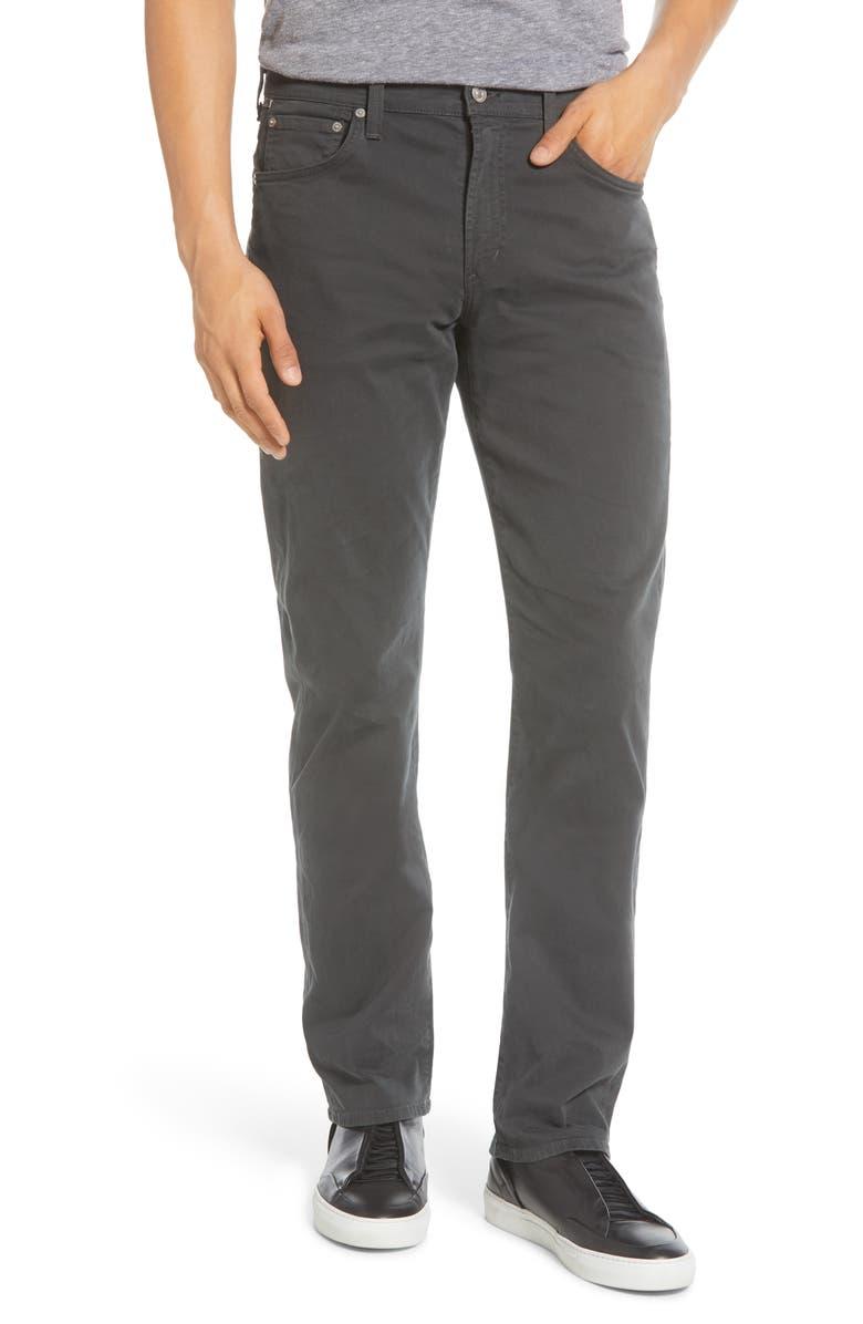 CITIZENS OF HUMANITY Gage Slim Straight Leg Twill Pants, Main, color, SULPHUR