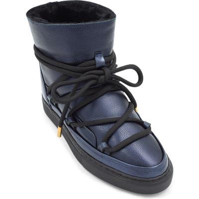 Inuikii Classic Genuine Shearling Sneaker Boot, Blue