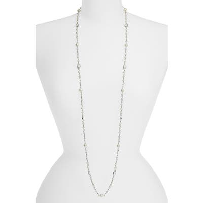 Cristabelle Imitation Pearl Station Necklace