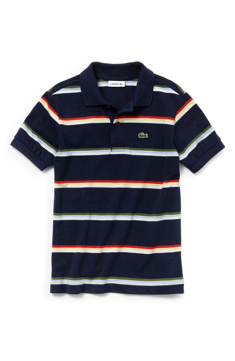 fe5d22ab Lacoste Summer Lover Stripe Piqué Polo (Toddler Boys ...