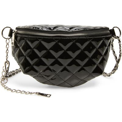 Steve Madden Quilted Belt Bag - Black