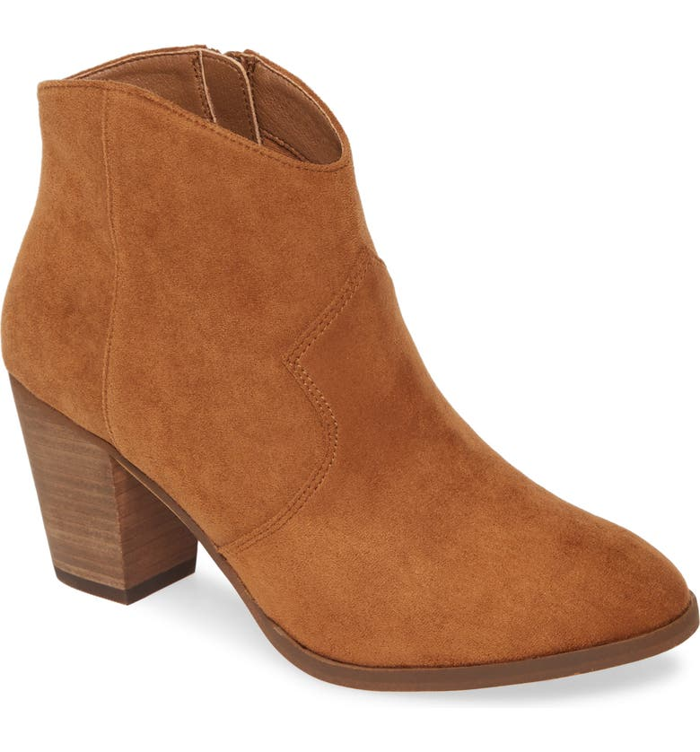 BP. Nolly Bootie, Main, color, CHESTNUT FAUX SUEDE