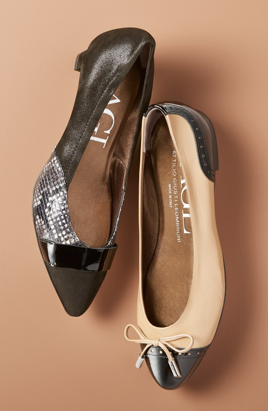 ,                             'Dara' Cap Toe Ballet Flat,                             Alternate thumbnail 5, color,                             030