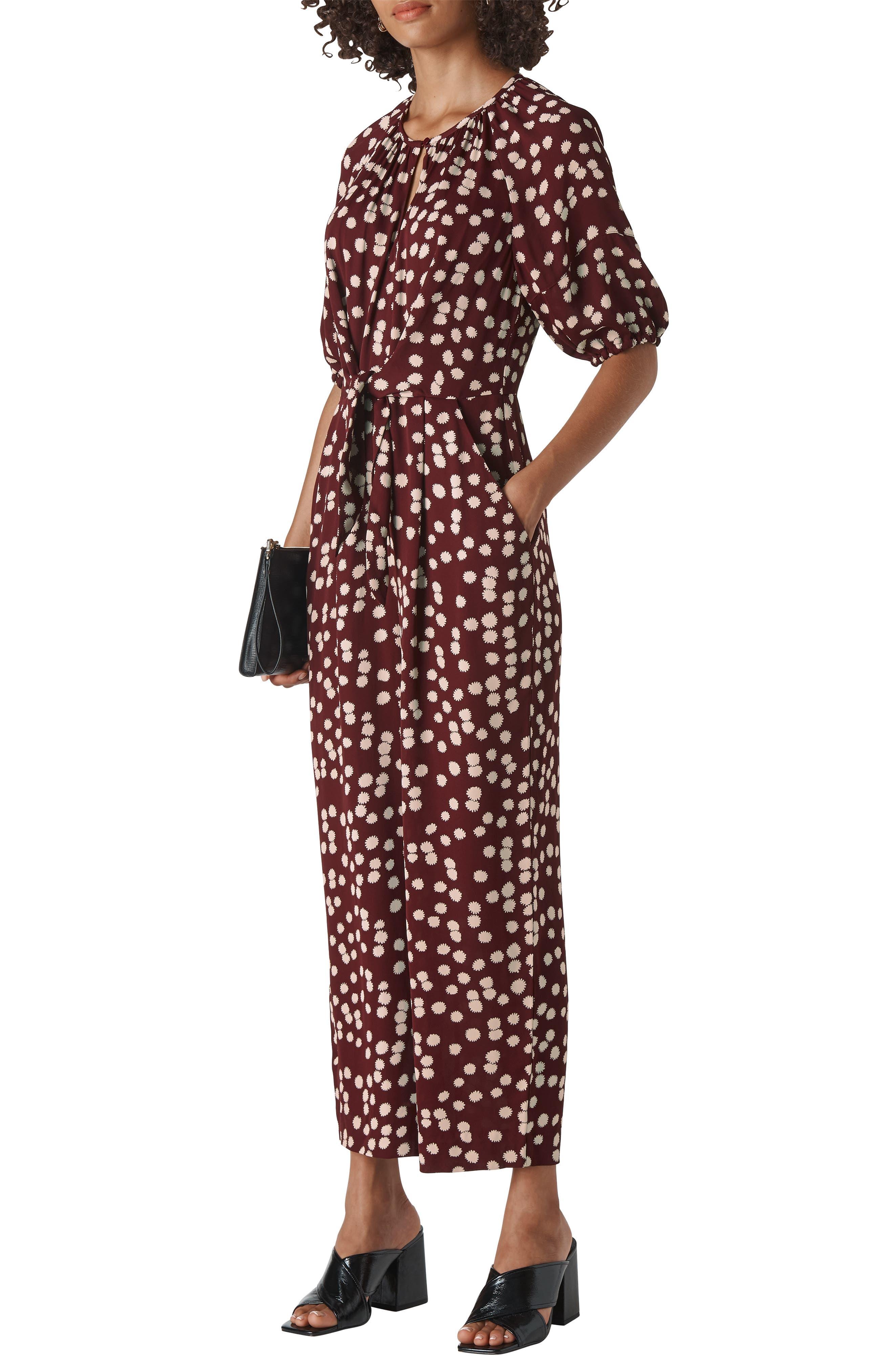 Whistles Suits Nadia Illustrated Flower Jumpsuit