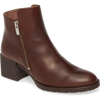 Wonders H-3520 Block Heel Bootie, Brown