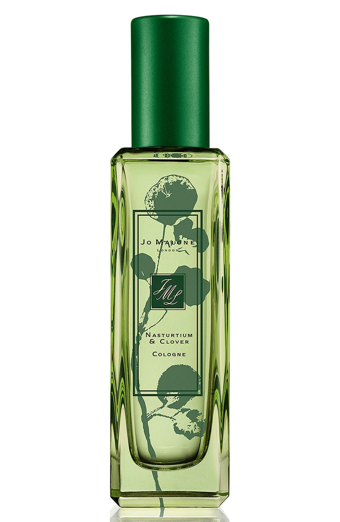 ,                             Jo Malone<sup>™</sup> 'Nasturtium & Clover' Cologne,                             Main thumbnail 1, color,                             000