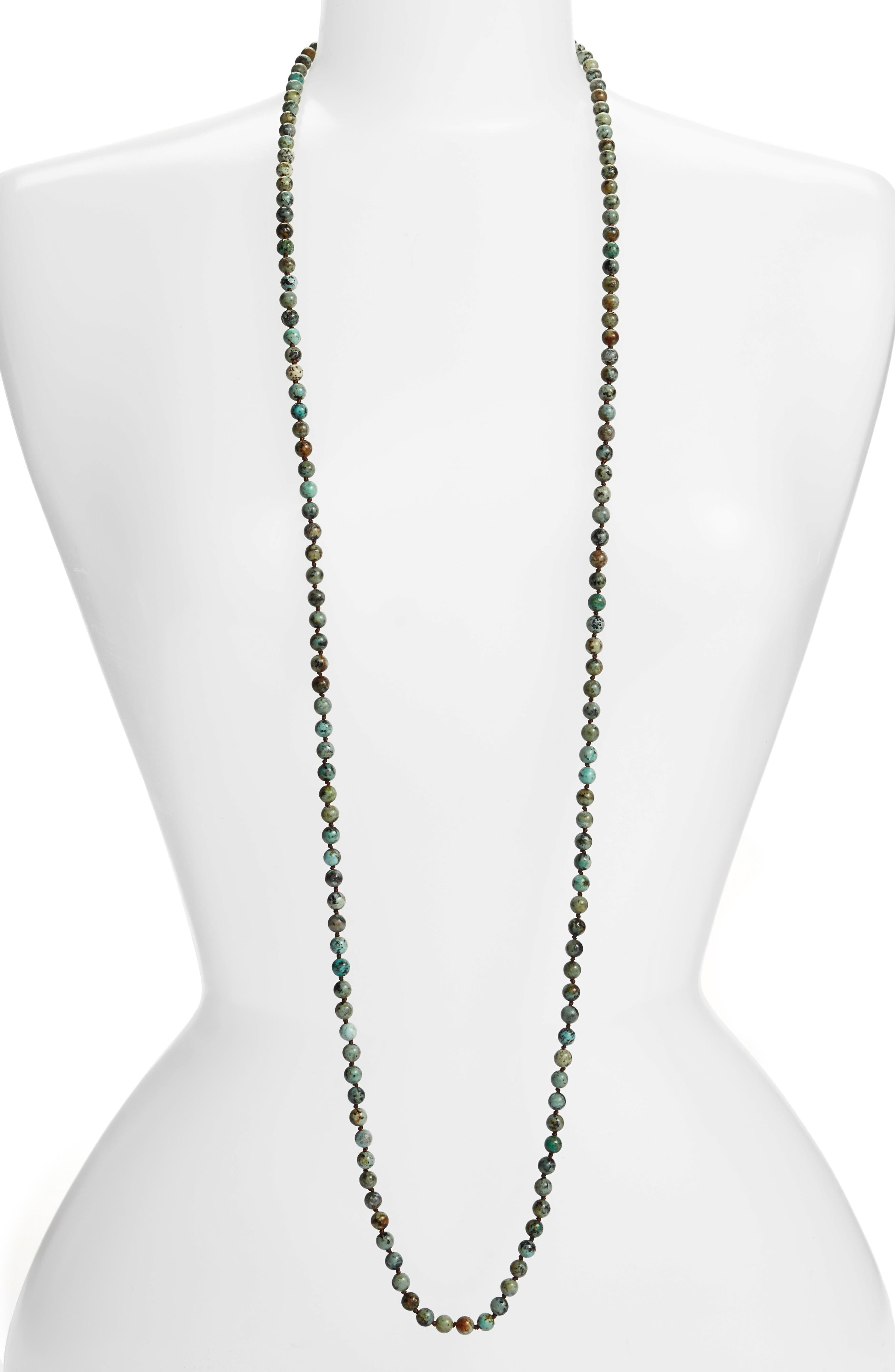 ,                             Love's Affect Knotted Semiprecious Stone Necklace,                             Main thumbnail 7, color,                             300