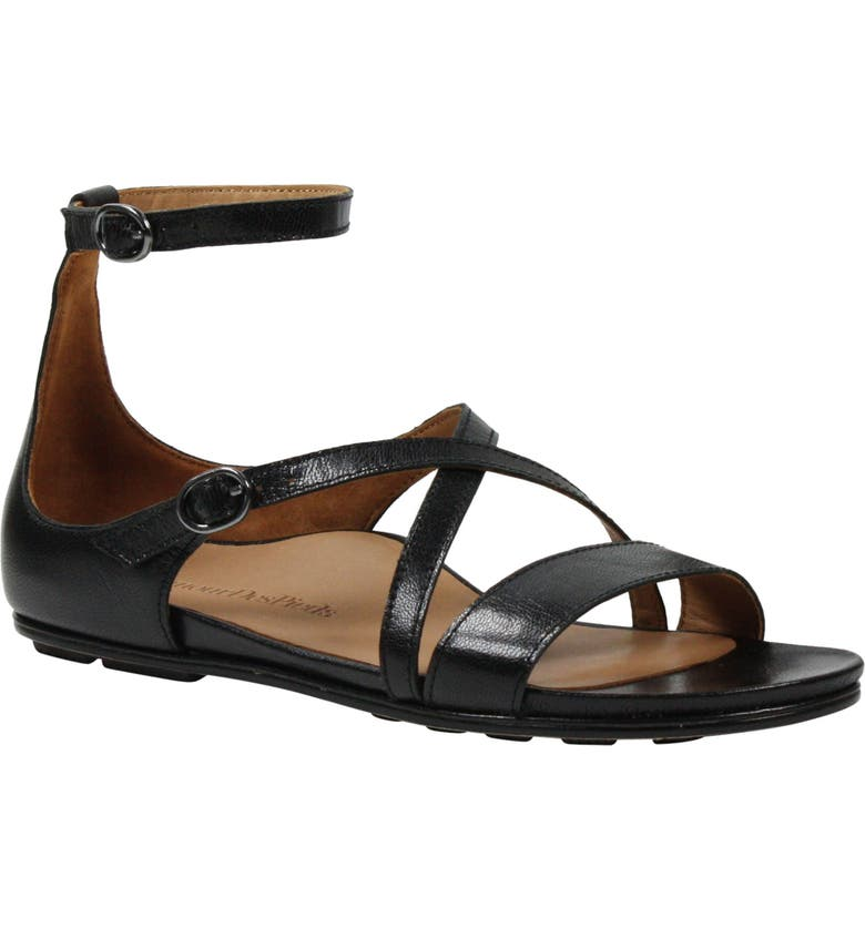 L'AMOUR DES PIEDS Daleyza Sandal, Main, color, BLACK LEATHER