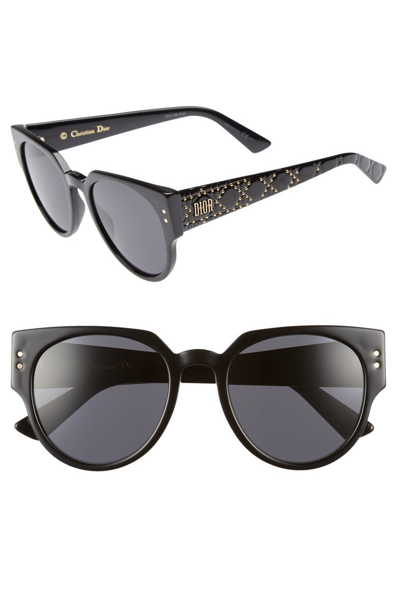 DIOR Lady Dior 52mm Cat Eye Sunglasses, Main, color, 001