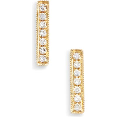 Dana Rebecca Designs Sylvie Rose Diamond Bar Stud Earrings