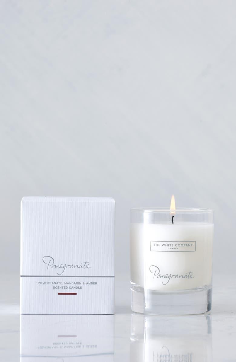 THE WHITE COMPANY Pomegranate Signature Scented Candle, Main, color, WHITE