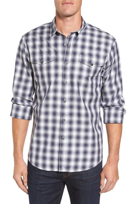 Image of COASTAORO Acacia Plaid Regular Fit Flannel Shirt