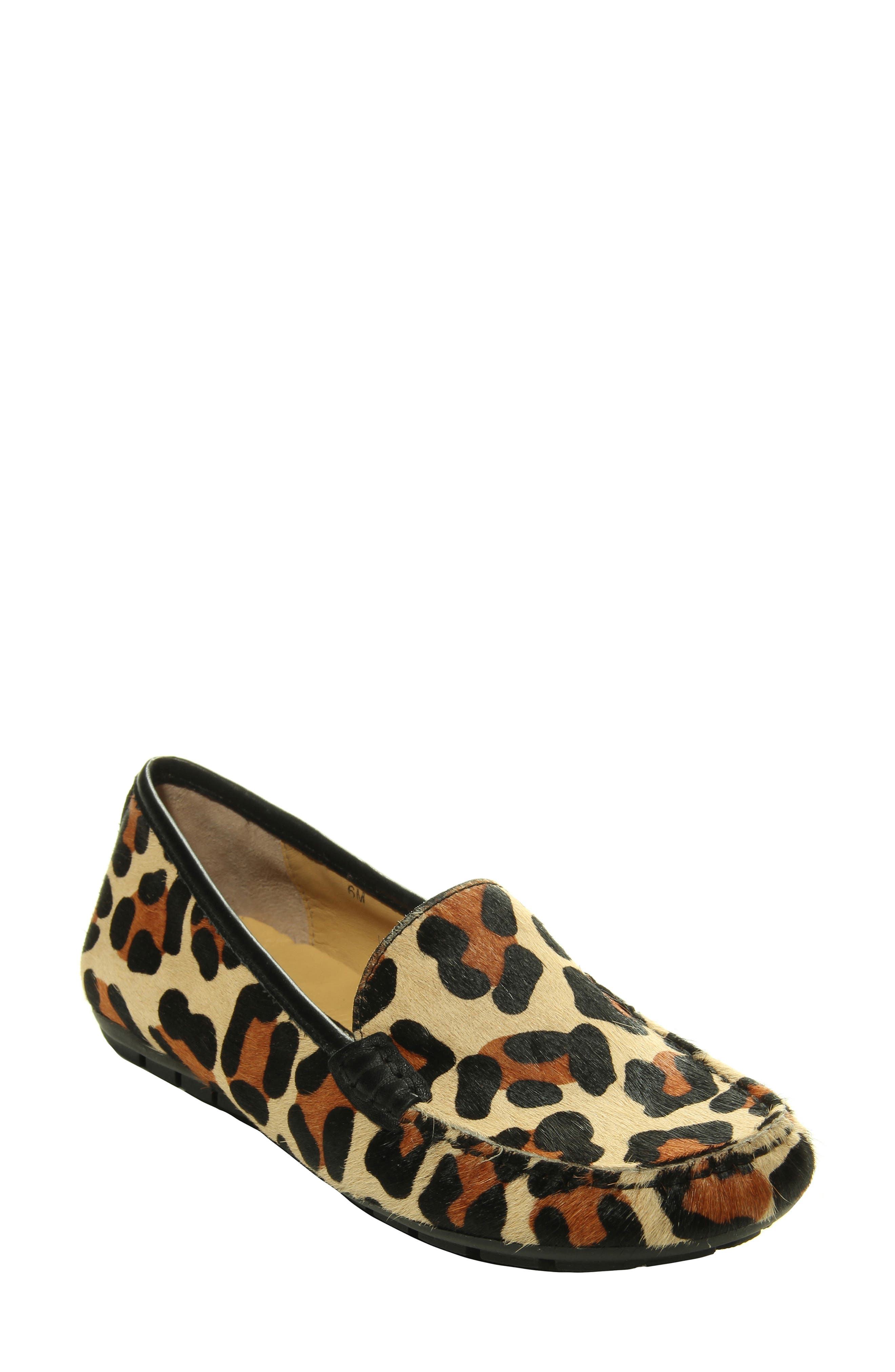 Bold patterns and genuine calf hair elevate a sophisticated loafer with a moc-stitched toe and well-cushioned footbed. Style Name: Vaneli Albion Genuine Calf Hair Loafer (Women). Style Number: 6111238. Available in stores.