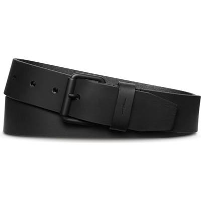 Shinola Rambler Leather Belt, Black