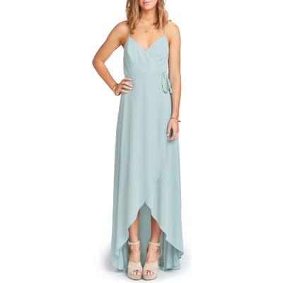 Show Me Your Mumu Mariah Wrap Maxi Dress, Blue