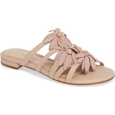 Cecelia New York Flower Slide Sandal- Ivory