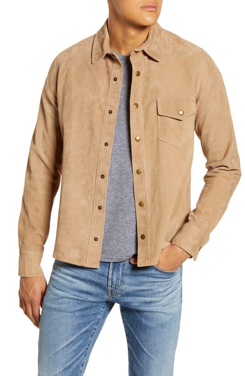 BILLY REID One Pocket Suede Shirt Jacket, Main, color, 262