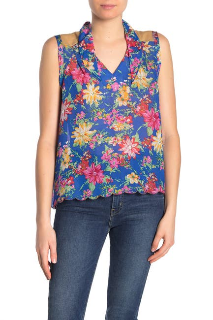 Image of ARATTA I Guess Floral Sleeveless Blouse