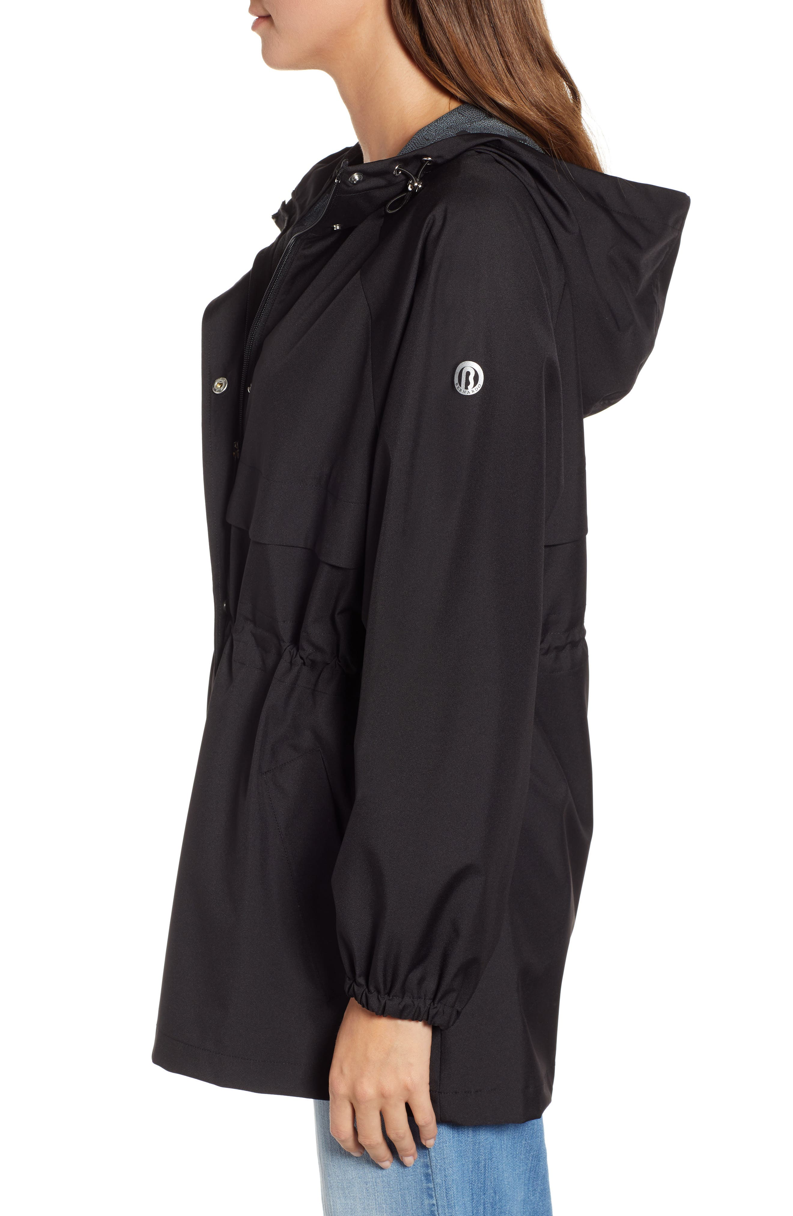 ,                             Micro Breathable Oversize Hooded Jacket,                             Alternate thumbnail 3, color,                             001