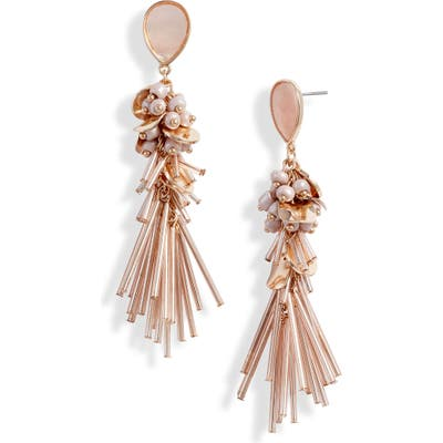 Rachel Parcell Beaded Linear Statement Earrings (Nordstrom Exclusive)