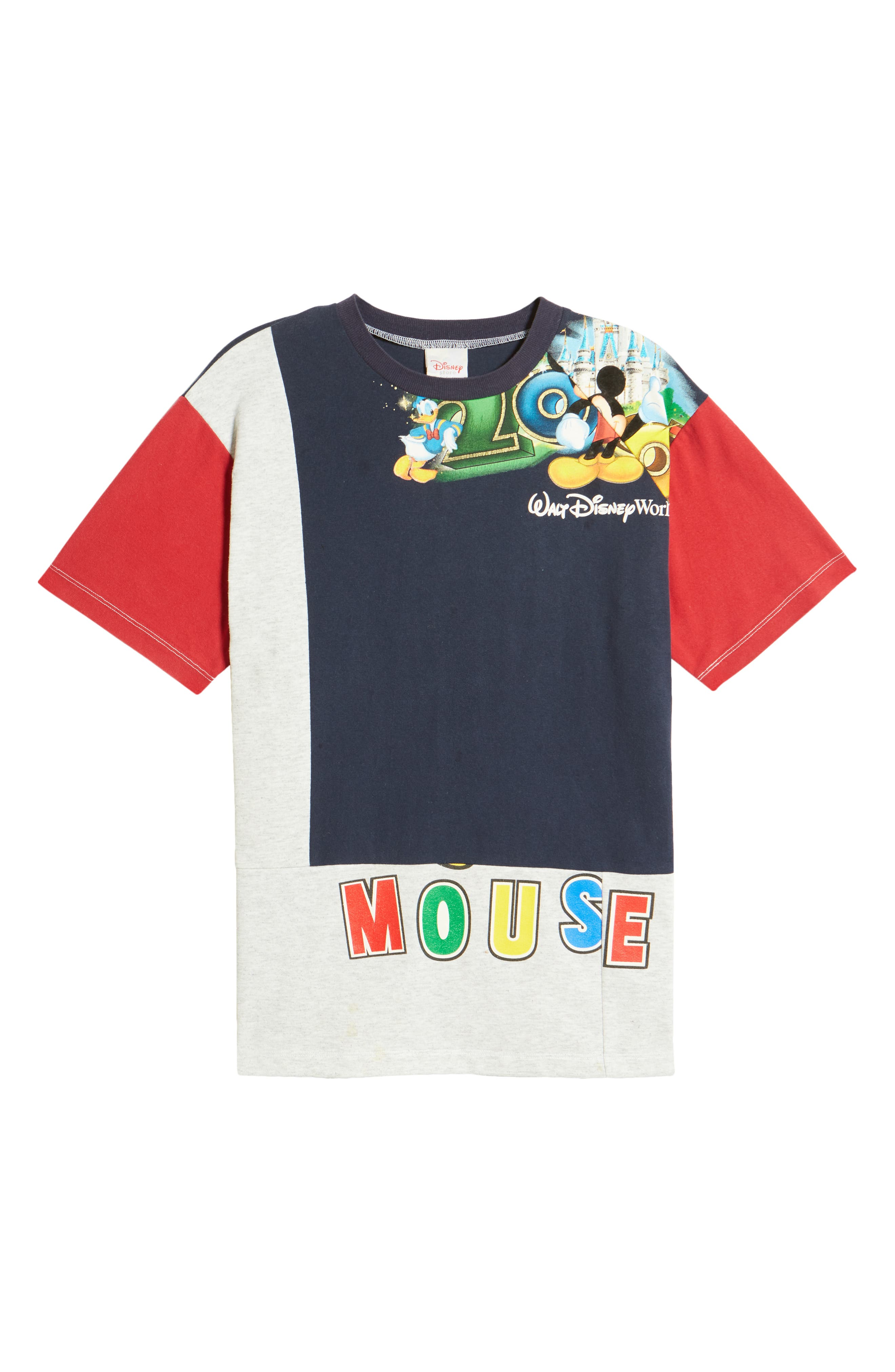 Unisex Upcycled Mickey Patchwork Graphic Tee