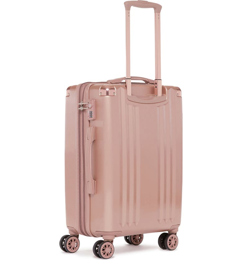 CALPAK Ambeur 22-Inch Rolling Spinner Carry-On, Alternate, color, ROSE GOLD
