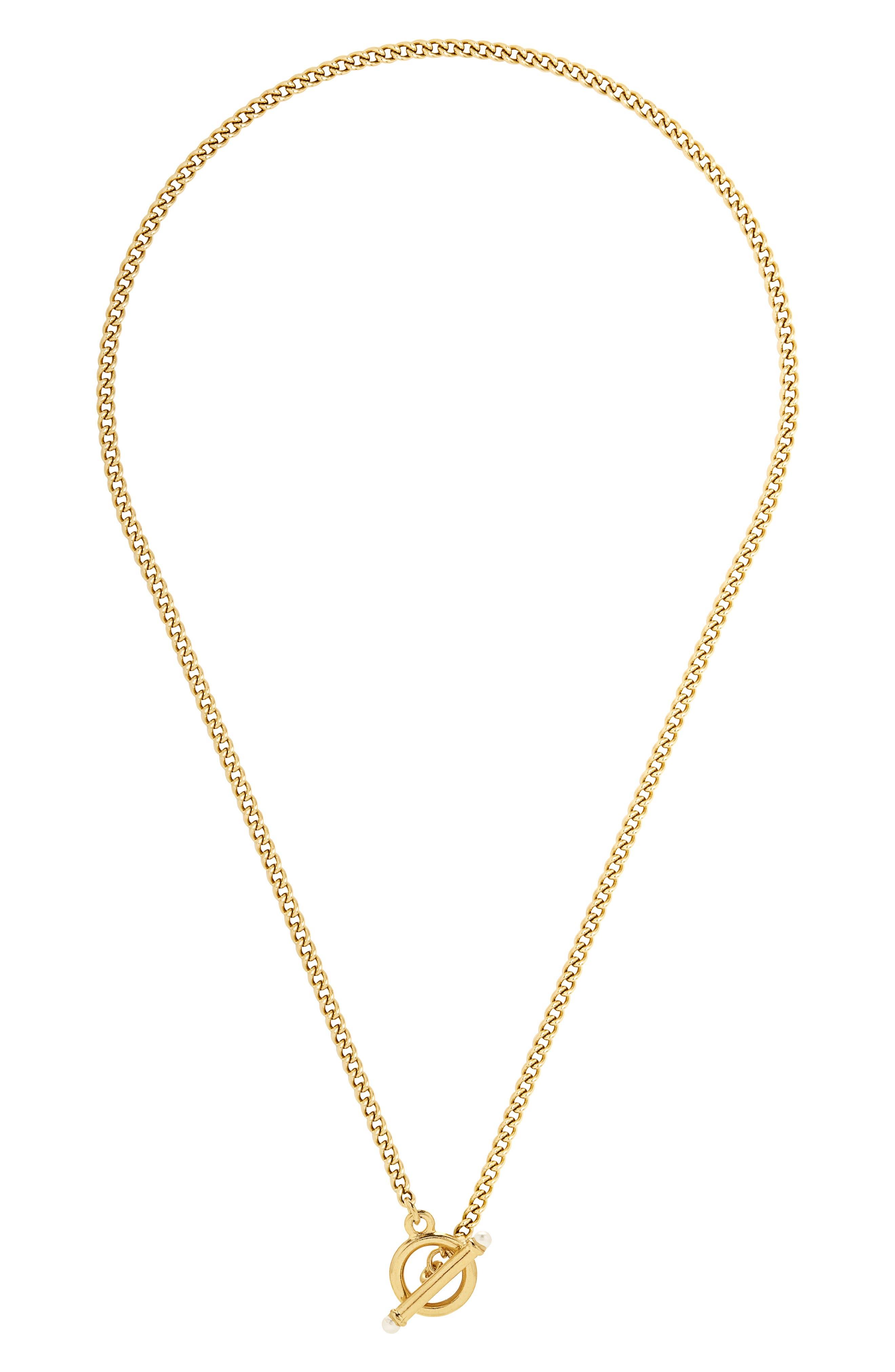 Stella Imitation Pearl Toggle Necklace