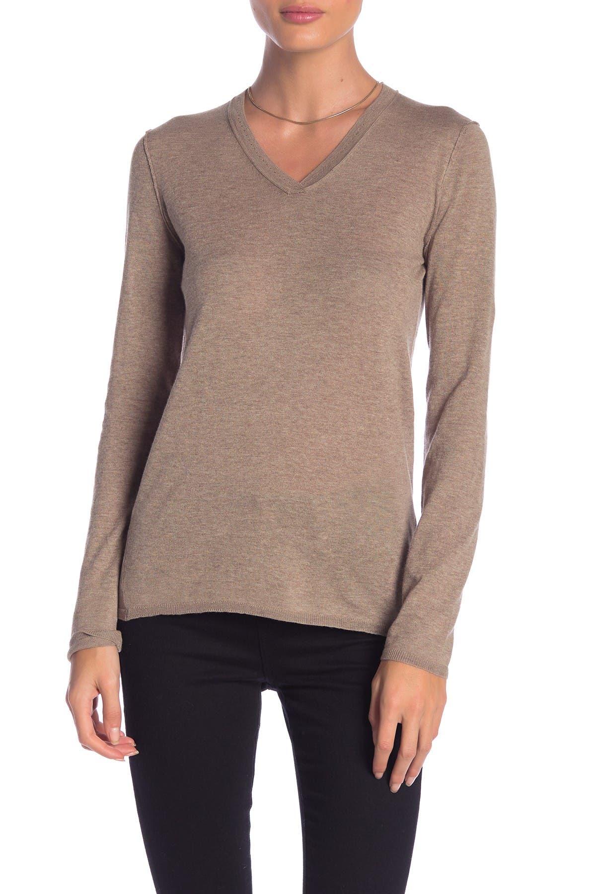 Image of Inhabit Essential Cotton V-Neck Sweater