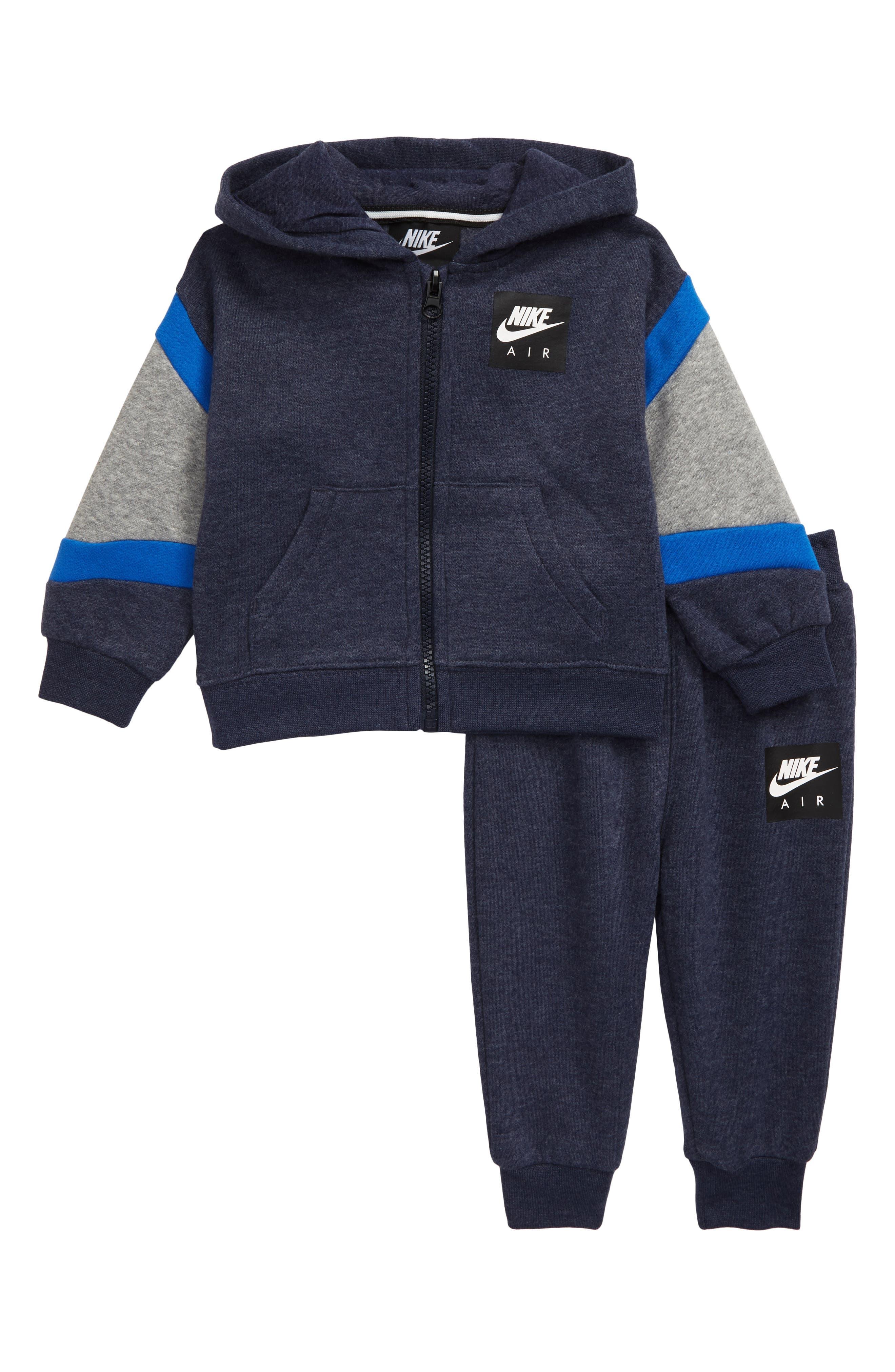 Infant Boys Nike Air Fleece Zip Hoodie  Sweatpants Set
